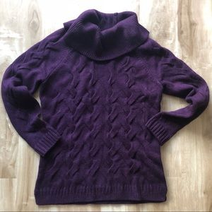 Women's purple Calvin Klein turtleneck